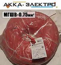 Провод МГШВ 0.75мм2 (красный)