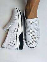 24pfm. Женские летние туфли -кроссовки белые на невысокой платформе. Натуральная кожа. Размер 23.0 23,5, фото 10