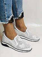 24pfm. Женские летние туфли -кроссовки белые на невысокой платформе. Натуральная кожа. Размер 23.0 23,5, фото 2