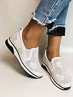 24pfm. Женские летние туфли -кроссовки белые на невысокой платформе. Натуральная кожа. Размер 23.0 23,5, фото 7