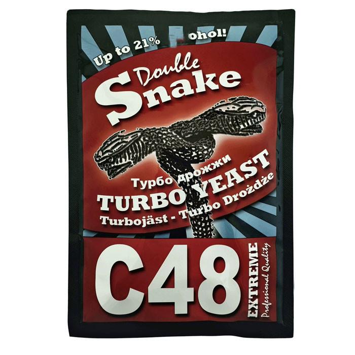 Сухие турбо дрожжи Double Snake C48
