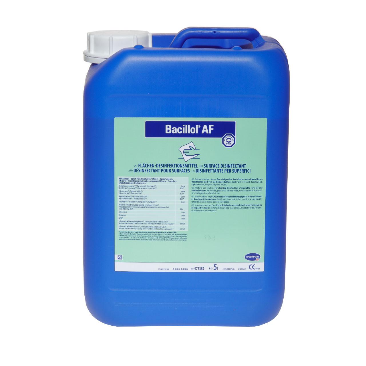 Дезінфікуючий засіб Бациллол АФ (Bacillol AF), 5л
