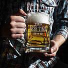 """Кружка для пива """"Beer time"""" с ручкой, фото 2"""
