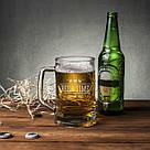 """Кружка для пива """"Beer time"""" с ручкой, фото 3"""