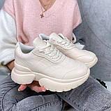 Женские кроссовки пудра эко кожа, фото 8