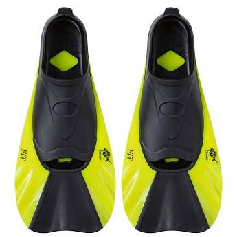 Ласты для басейна, плавания Dolvor FIT F368, р-р 2XS (34-35), лимонный