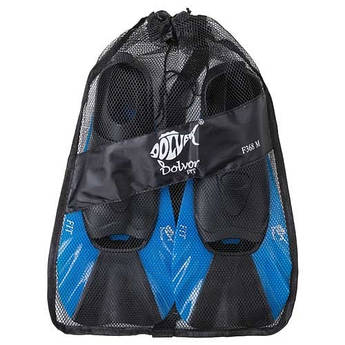 Ласты для бассейна, плавания Dolvor FIT F368, р-р 2XS (34-35), синий. F368/2XS-1
