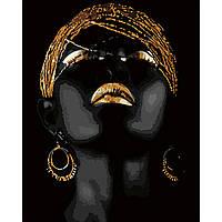 Картина по номерам Strateg Golden lady, 40х50 см