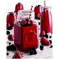 Картина по номерам Strateg Яркий напиток, 40х50 см