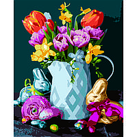 Картина по номерам Strateg Цветы на Пасху, 40х50 см
