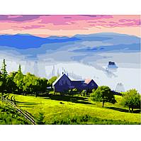 Картина по номерам Strateg Туманный пейзаж, 40х50 см