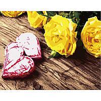 Картина по номерам Strateg Жолтые розы, 40х50 см