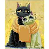 Картина по номерам Strateg Котики, замотанные шарфом, 40х50 см