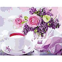 Картина по номерам Strateg Утренний чай, 40х50 см