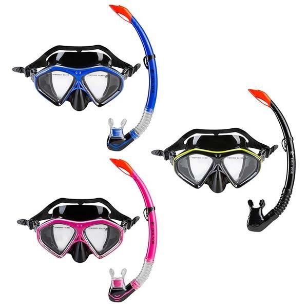 Набір: маска,трубка Dolvor М289Р+SN09P. Знижка від 12 шт.