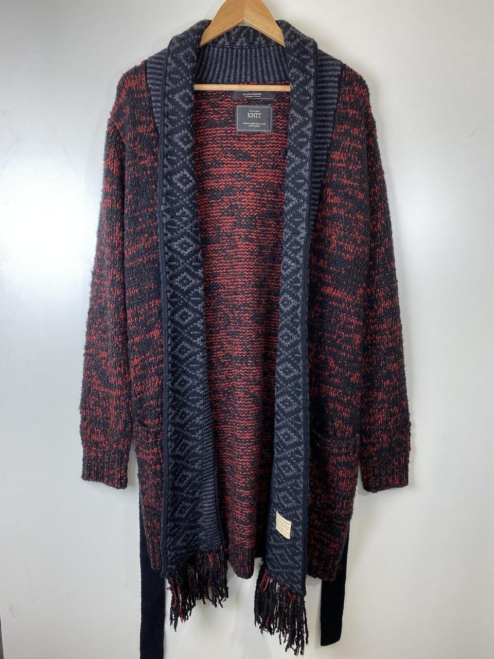 Кардиган мужской Scotch & Soda цвет бордово-черный размер M арт 13534816-FWMM-D60