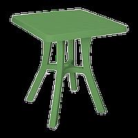 Стіл квадратний Irak Plastik Royal 70x70 см зелений
