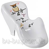 Горка для купания Tega Owl (Plus Baby) PB-SOWA-003 нескользящая 106 gray