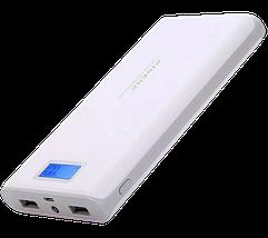 Портативний зарядний пристрій Power Bank Pineng PN-920 40000mah, зовнішній акумулятор, повер банк 2 USB LCD, фото 2