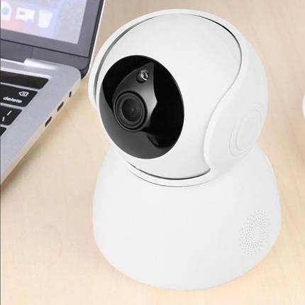 IP камера відеоспостереження V380-Q9 - Бездротова поворотна Wifi камера з нічним режимом і гучним зв'язком, фото 2