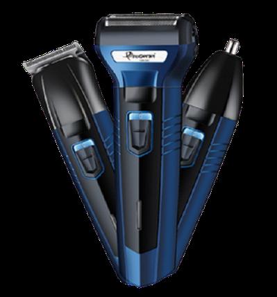 Тример універсальний 3 в 1 Gemei GM-566 - Бритва тример машинка для стрижки волосся, фото 2