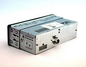 Автомагнітола AUX 1DIN MP3 1584 з 2-ма виходами - бюджетна однодиновая магнітола з USB, SD, FM і AUX, фото 3