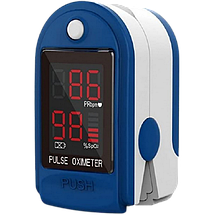 Пульсоксиметр на палець PULSE OXIMETER - портативний медичний пульсометр для вимірювання пулься і сатурації, фото 2