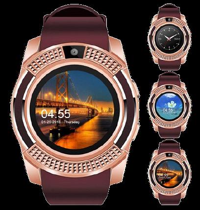 Умные часы Smart Watch V8 сенсорные - смарт часы Золотые, фото 2