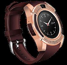 Умные часы Smart Watch V8 сенсорные - смарт часы Золотые, фото 3