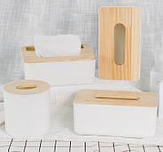 Диспенсер для серветок серія Wood білий (22013), фото 2
