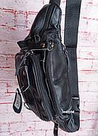 Женская кожаная бананка. Кожаная сумка на пояс на плечо. Поясная сумка кожа. Б14-1