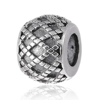 """Серебряная бусина Silvex 925 шарм """"Ажурное плетение"""" П5/8094"""