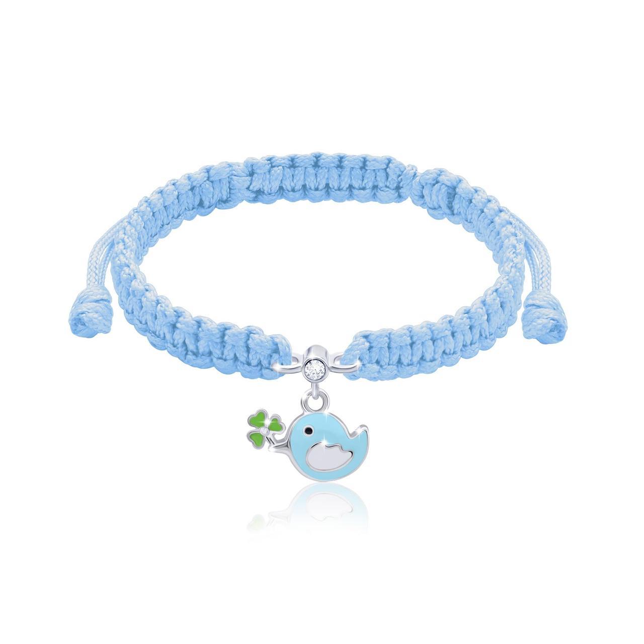 Браслет плетеный UMa UMi Птичка голубая (419541600604)