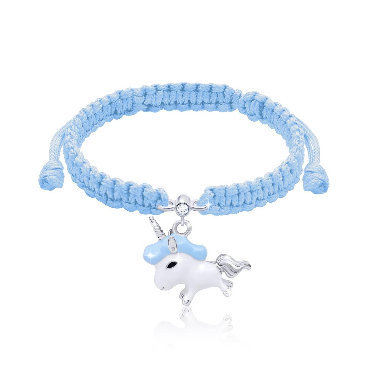 Браслет плетеный UMa UMi Единорог голубой (419542400604)