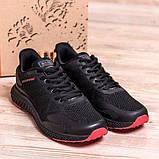 Чоловічі чорні кросівки з чорною підошвою, фото 3