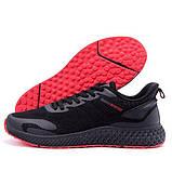 Чоловічі чорні кросівки з чорною підошвою, фото 6