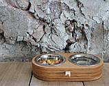 КІТ-ПЕС by smartwood Миски на подставке   Миска-кормушка металлическая для собак щенков  XS - 2 миски, фото 6