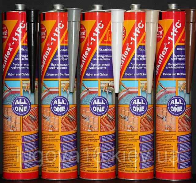 Полиуретановый клей для швов,трещин.Клей для различных материалов Sikaflex-11FC+ белый, 310 мл