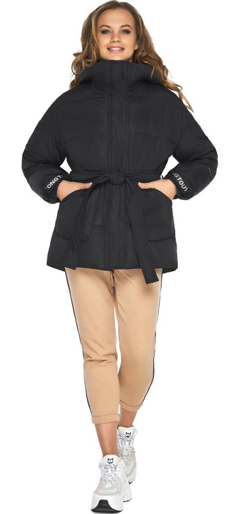 Куртка осенне-весенняя женская черная модель 21045