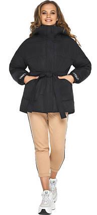 Куртка осенне-весенняя женская черная модель 21045, фото 2