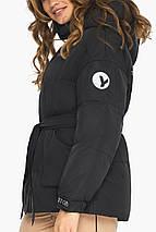 Куртка осенне-весенняя женская черная модель 21045, фото 3