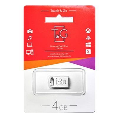 Флеш пам'ять 4 GB T & G 105 Metal Series Silver USB 2.0 (TG105-4G)