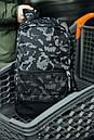 Рюкзак Intruder черного цвета с серым рисунком камуфляж, фото 3