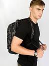 Рюкзак Intruder черного цвета с серым рисунком камуфляж, фото 8
