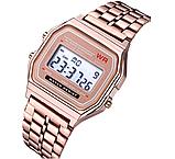 Наручные электронные часы с золотистым браслетом код 453 Уценка, фото 2