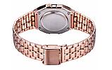 Наручные электронные часы с золотистым браслетом код 453 Уценка, фото 3