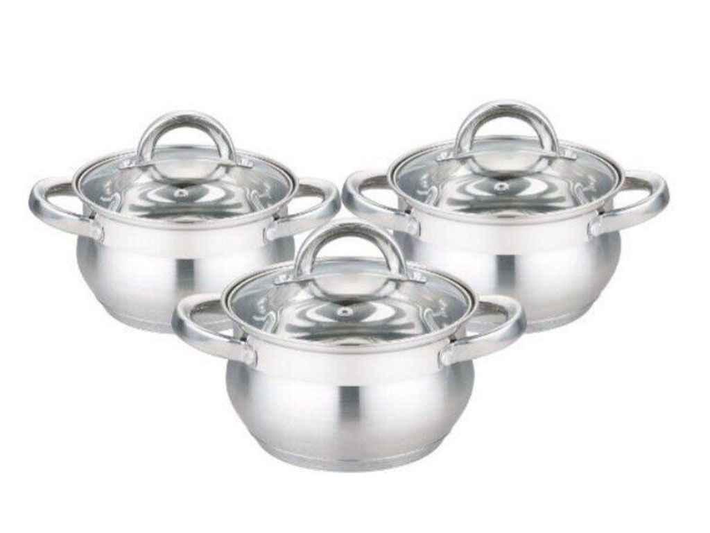 Набір посуду з нержавіючої сталі Edenberg 6 предметів (EB-3716)