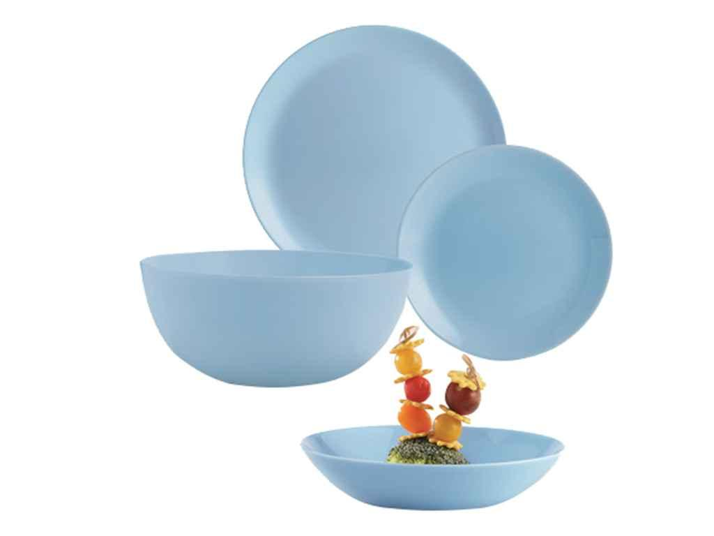 Сервіз обідній скляний 19пр. Diwali Light Blue P2961 ТМ LUMINARC