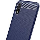 Силиконовый противоударный чехол Polished Carbon для Samsung Galaxy A01, фото 4