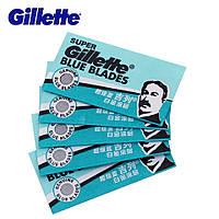 Бритвенные лезвия Gillette Super Blue Shaving Razor Blades for men 5шт
